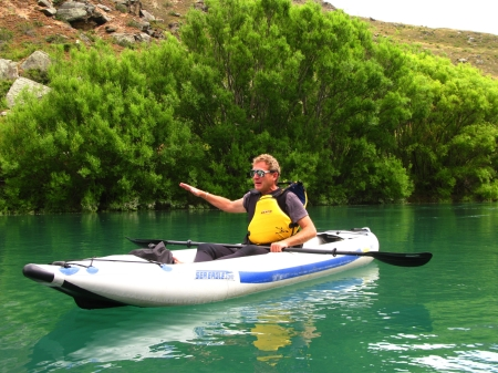 Kayaking on the Clutha River