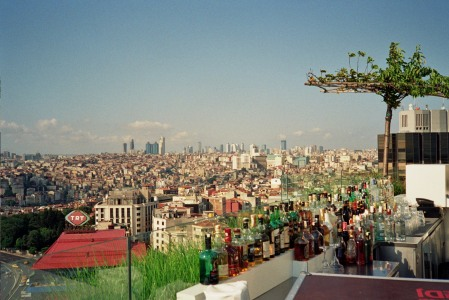 View from the roof terrace of the Mamara Pera hotel, Istanbul
