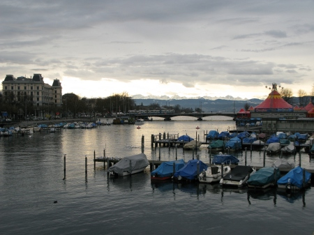 River Limmat and Lake Zurich