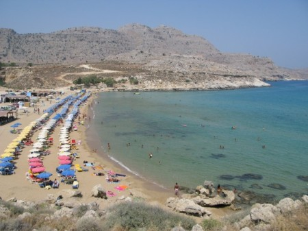 Beach on the Greek Island of Rhodes